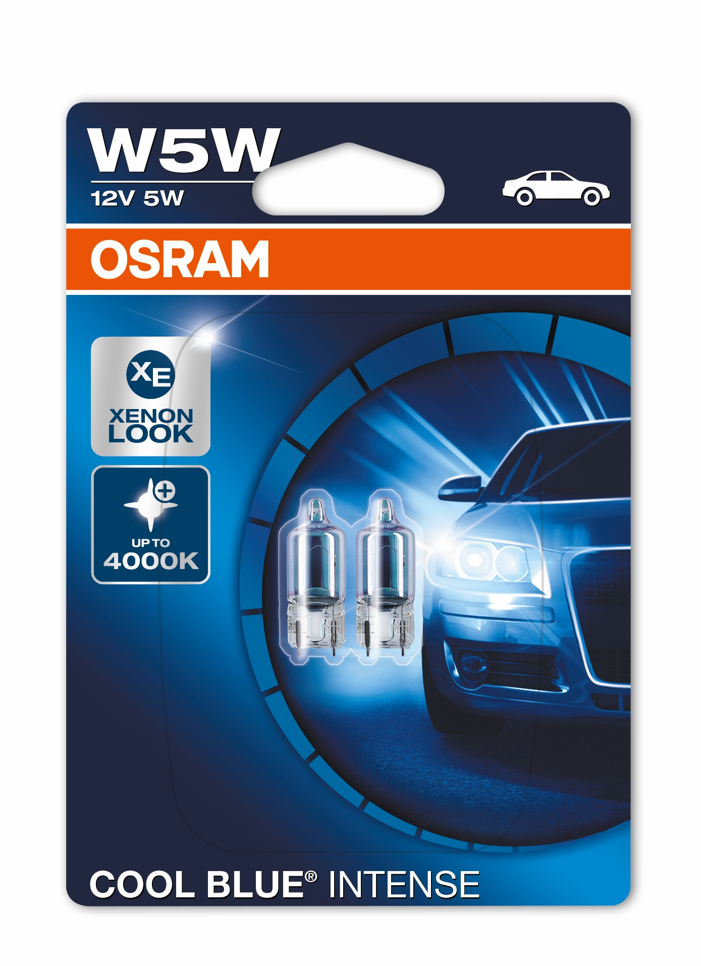 2 x osram w5w 501 t10 cool blue intense sidelight. Black Bedroom Furniture Sets. Home Design Ideas