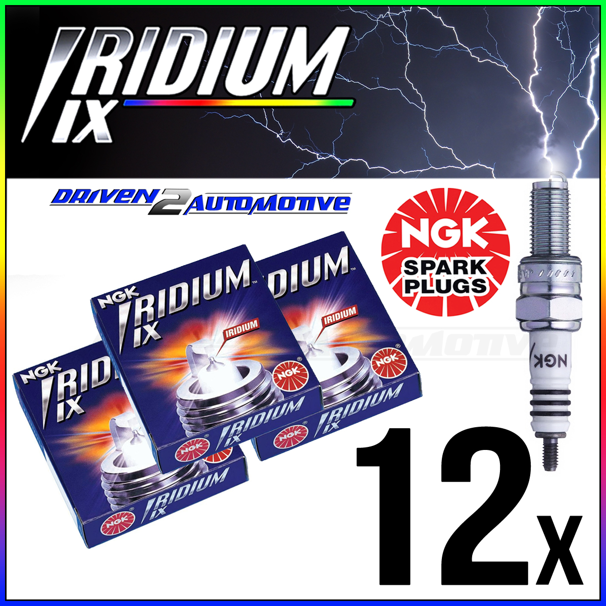 12 x NGK Iridium Spark Plug BR8EIX FERRARI 512 KH100EL WHOLESALE PRICE ON SALE